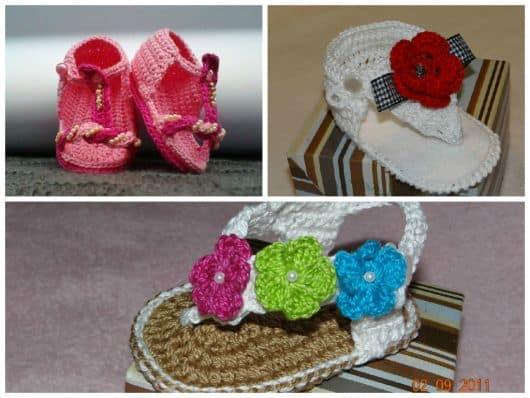 imagens de modelos de sapatos de bebê