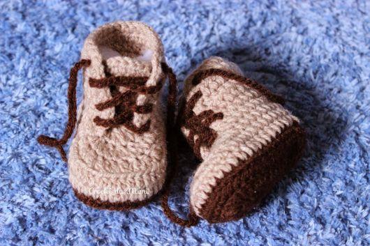 calçado em crochê infantil