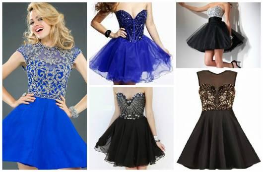 Dicas para escolher o vestido de 15 anos - modelos curtos
