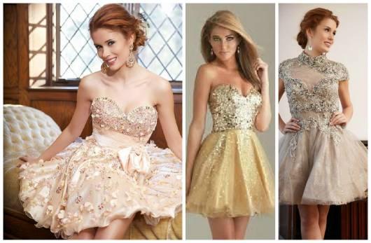 Dicas para vestido de 15 anos dourado curto