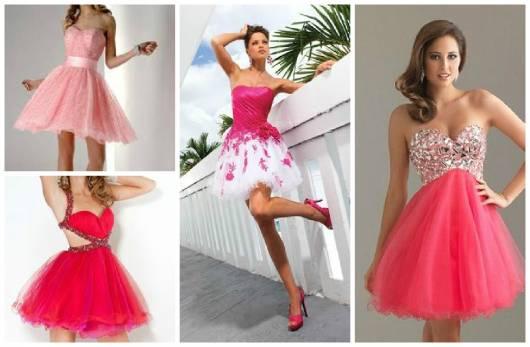Modelos de vestidos rosa para 15 anos