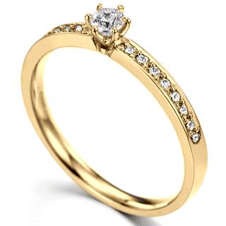 anel com 15 pedras e solitário