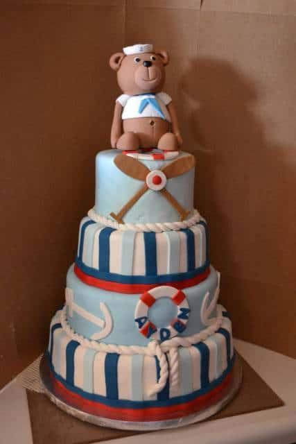 foto de bolo ursinho marinheiro
