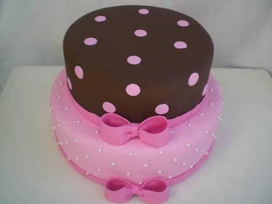 foto de bolo jolie rosa e marrom