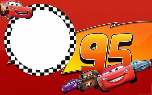 convite carros com o número 95