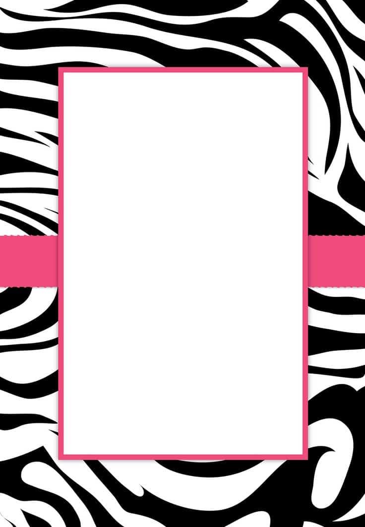 leopard print invitations templates - convites de 15 anos 50 modelos e como fazer