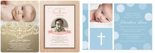 convite de batizado com foto do bebê