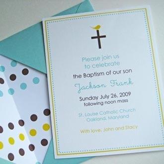 convite colorido de batizado
