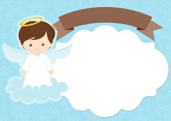 convite de anjinho de batizado