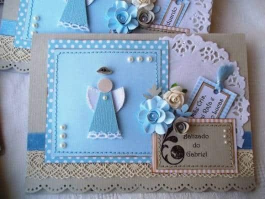 modelo de convite azul para batizado