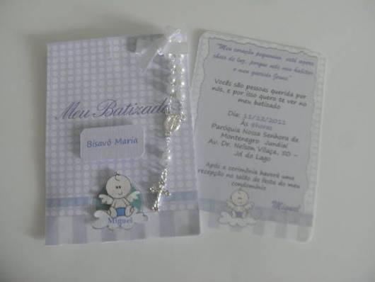 convite de batizado de menino