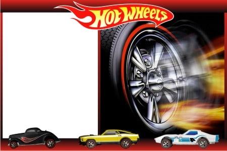convite hot wheels modelo