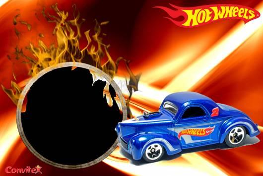 convite hot wheels pronto