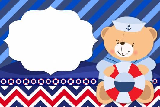 lindo convite ursinho marinheiro