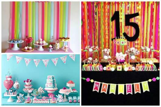 festa em casa colorida