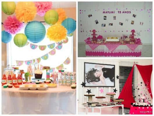 fotos como painel de fundo da festa
