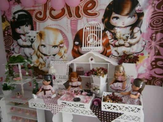 painel de festa jolie provençal