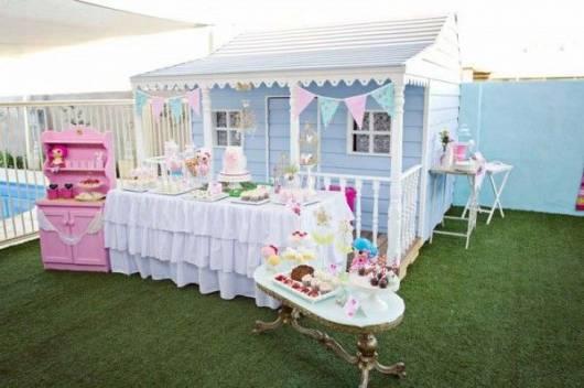 decoração festa casa de boneca
