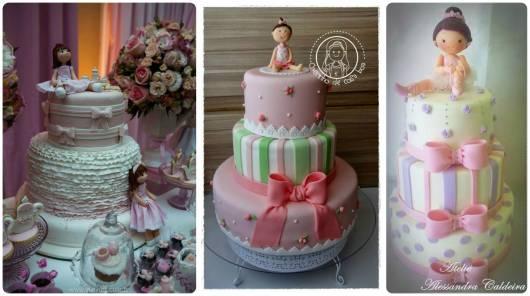 ideias bolo festa bonecas