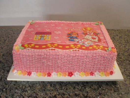 bolo com papel de arroz casa das bonecas