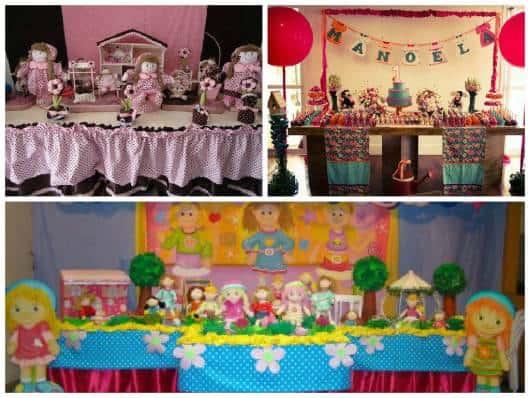 ideias de decoração de festa das bonecas