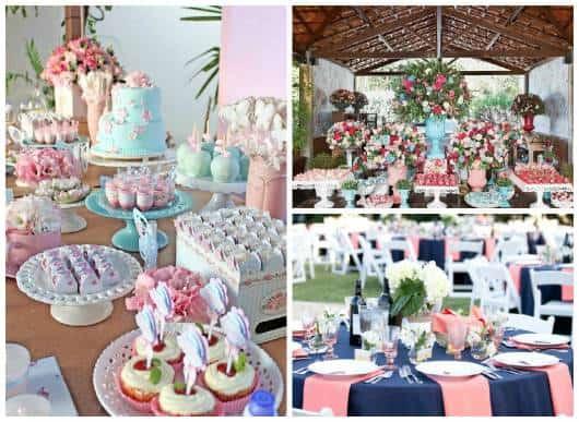 ideias festa rosa e azul 15 anos