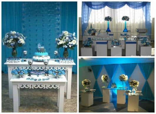 ideias festa simples 15 anos azul