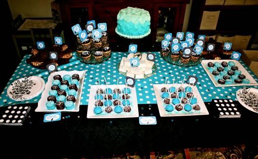 festa 15 anos  simples azul e preto