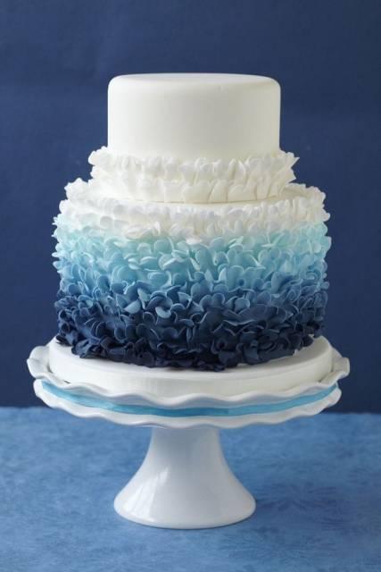 bolo azul 15 anos