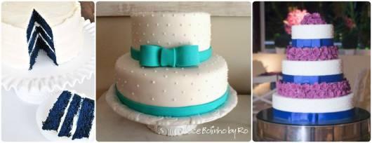 ideias bolo 15 anos  azul