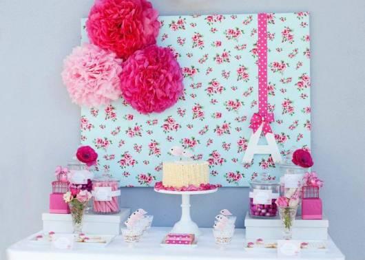 festa simples azul e rosa 15 anos