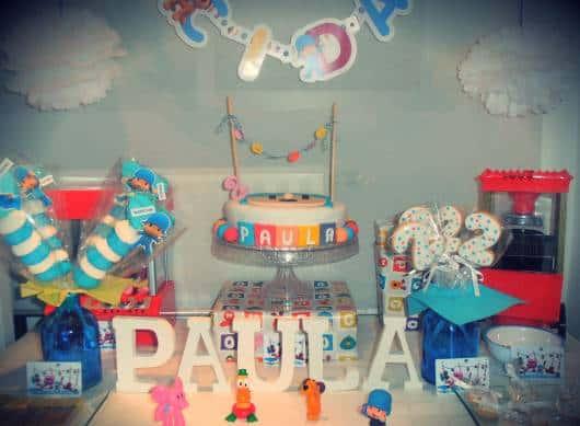 festa de aniversario pocoyo simples