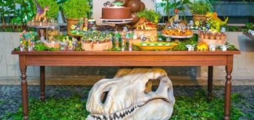 decoração festa dinossauro diferente