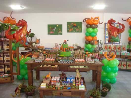 festa rei dinossauro