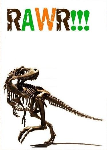 modelo de convite para imprimir dinossauro
