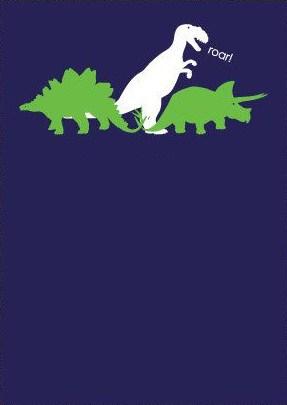 convite simples festa dinossauros
