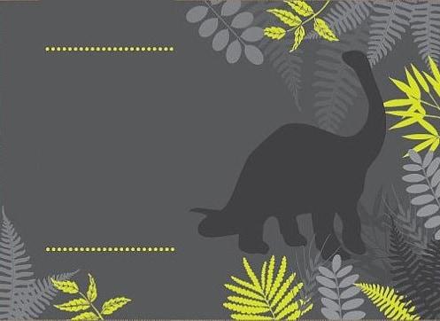 convite para impressão festa dinossauros