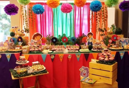 foto de decoração clean colorida