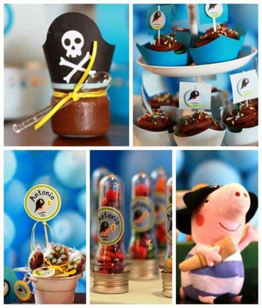ideias para festa george pig  pirata
