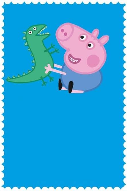 convite simples para imprimir george pig