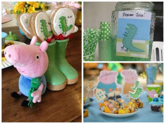 ideia decoração george pig e dinossauro