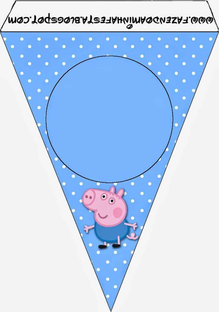 bandeirinha kit festa george pig