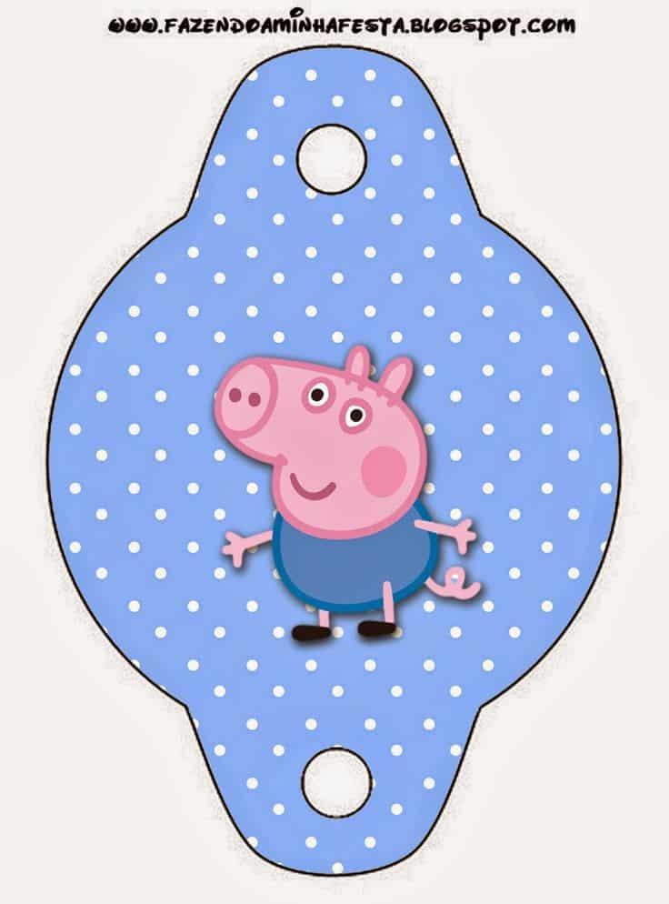canudinho kit festa george pig