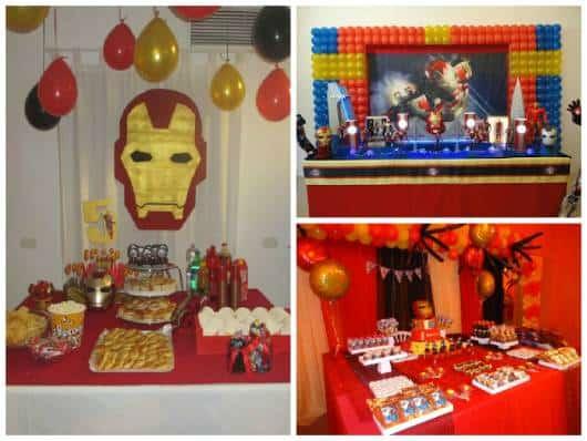 ideias para decorar festa simples homem de ferro