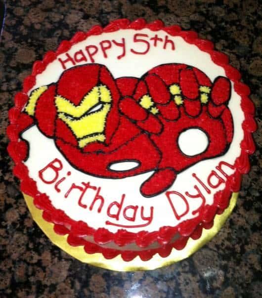 bolo decorado homem de ferro