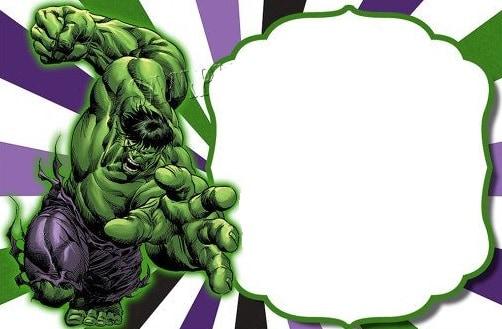 convite grátis para imprimir do hulk