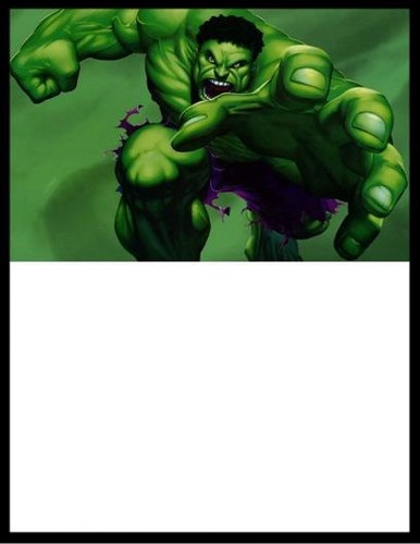 ideia de convite para imprimir do hulk