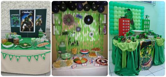 ideias para decorar festa do hulk