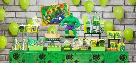festa simples do hulk