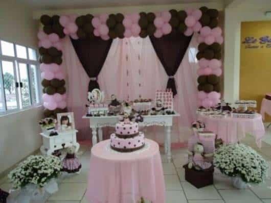 decoração jolie em rosa e marrom